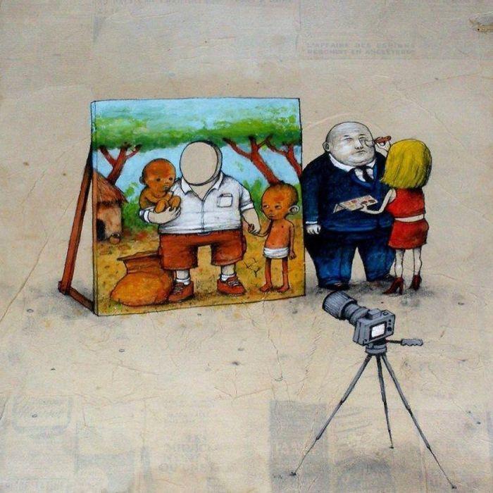 Рисуют в угоду заказчику, приукрашая действительность. Автор: Dran.