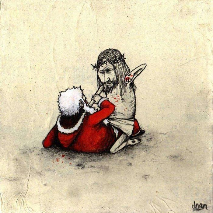 Иисус любит тебя. Автор: Dran.