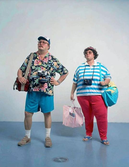 Супружеская пара туристов.