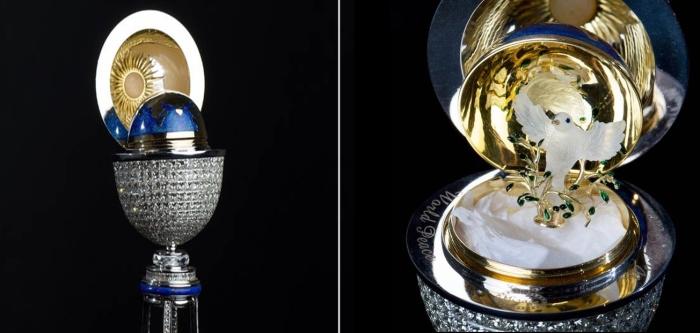 Фантастическое пасÑальное яйцо Мираж. | Фото: express.co.uk.