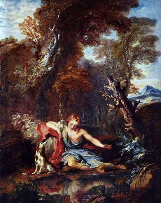Самовлюблённый Нарцисс. \ Фото: arts.nccri.ie.