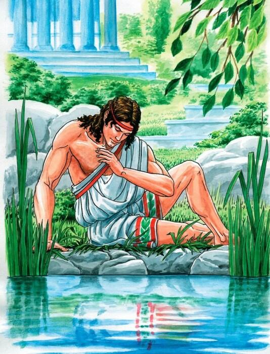 Нарцисс у источника. \ Фото: ru.toluna.com.