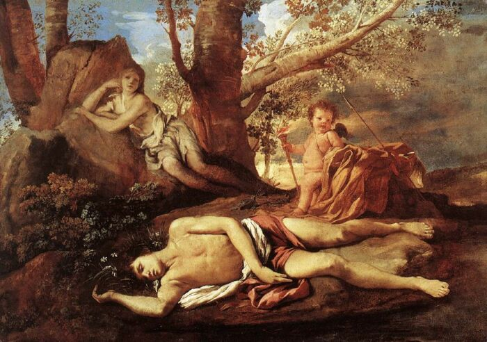 Миф об Эхо и Нарциссе, Николя Пуссен, ок. 1630 года. \ Фото: wikioo.org.