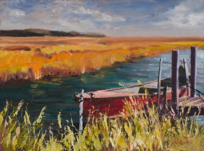 Красная лодка. Автор: Eddie Schrieffer.