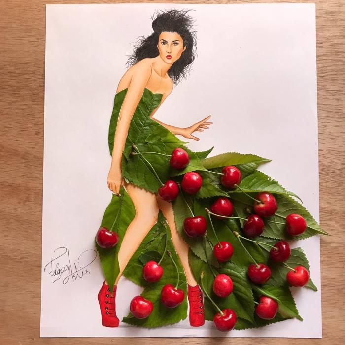 Вишнёвое платье. Автор: Edgar Artis.