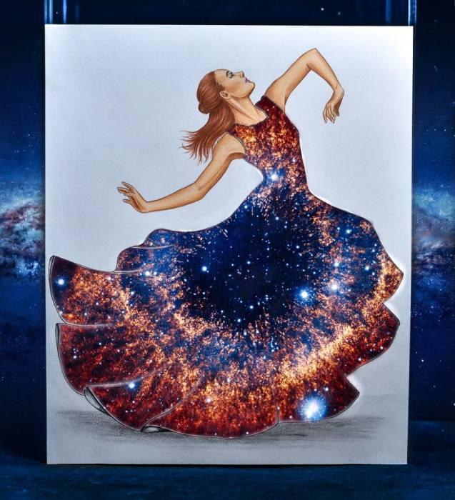 Галактическое платье. Автор: Edgar Artis.