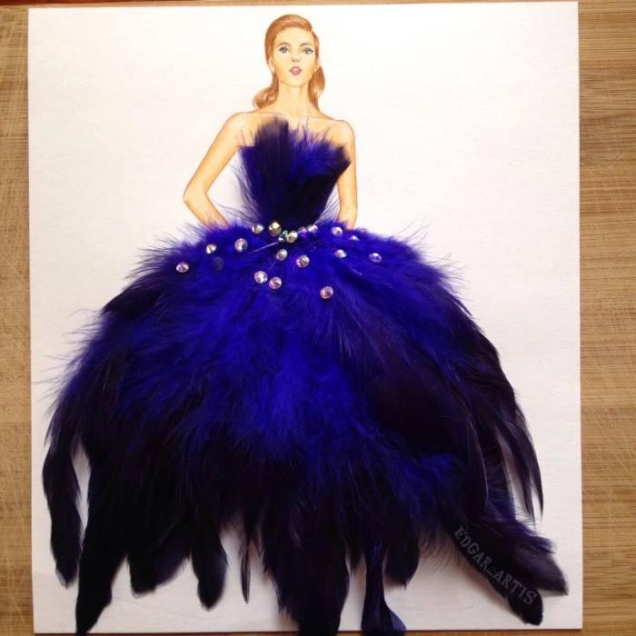 Пышное платье. Автор: Edgar Artis.