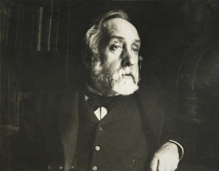 Автопортрет в библиотеке, Эдгар Дега, 1895 год. \ Фото: uk.m.wikipedia.org.