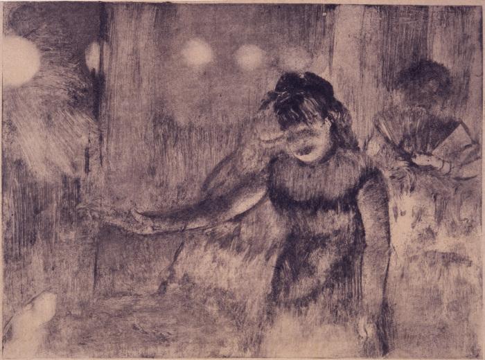 Кафе. Певица, монотипия в тёмном поле на бумаге, Эдгар Дега, 1877-78 гг. \ Фото: bigthink.com.