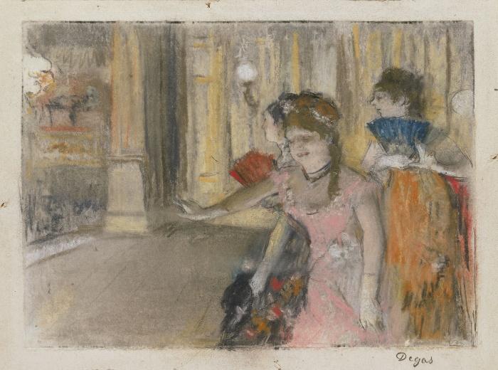 Певцы на сцене, Эдгар Дега, 1877-79 гг. \ Фото: artrenewal.org.