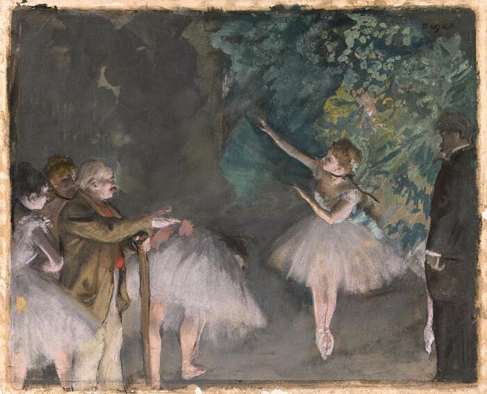 Репетиция балета, гуашь и пастель поверх монотипии на бумаге, Эдгар Дега, 1875-76 гг. \ Фото: commons.wikimedia.org.