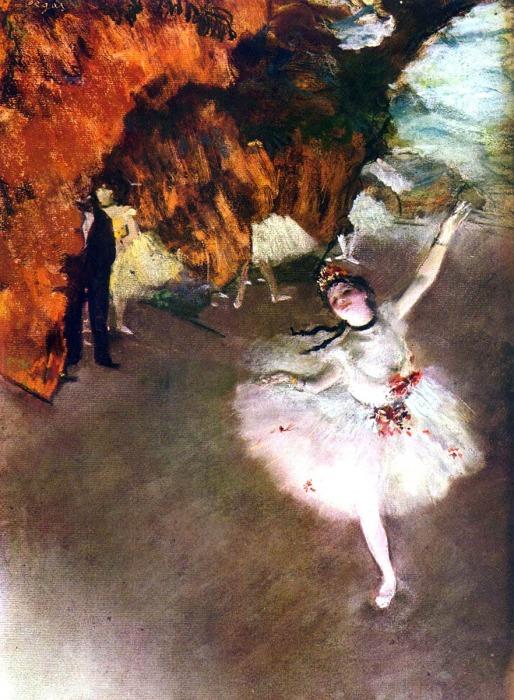 Звезда (или балет), Эдгар Дега, 1876 год. \ Фото: blogspot.com.