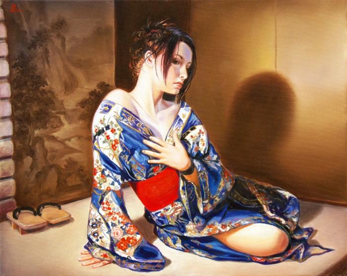 Девушка в кимоно. Автор: Edson Campos.
