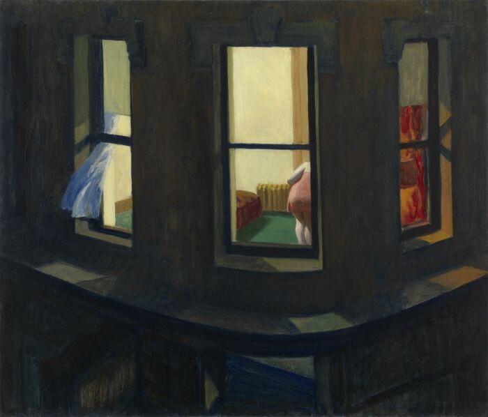 Ночные окна, Эдвард Хоппер, 1928 год. \ Фото: reddit.com.