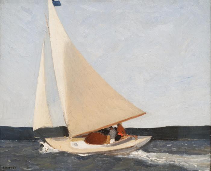Sailing, Эдвард Хоппер, 1911 год. \ Фото: dromospoihshs.gr.