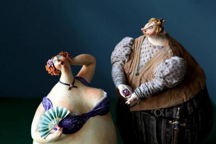 Дама с веером.  Автор: Екатерина Гусева.