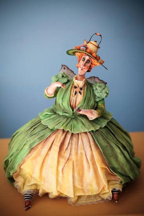 Дама в шляпке.  Автор: Екатерина Гусева.
