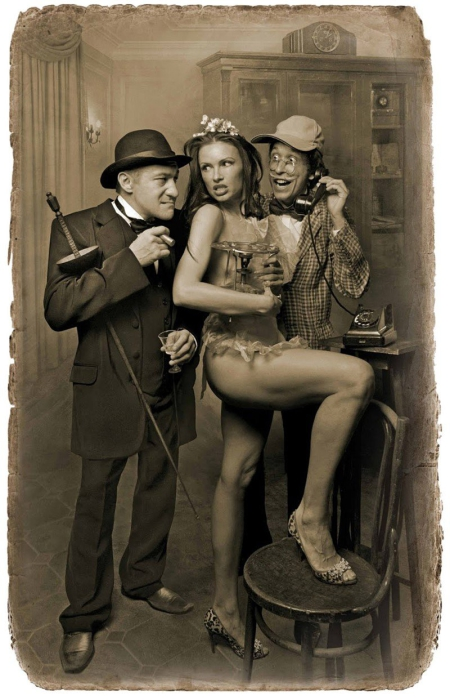 Фагот, Гелла и Азазелло. «Мастер и Маргарита». Фотоиллюстрации Елены Мартынюк.