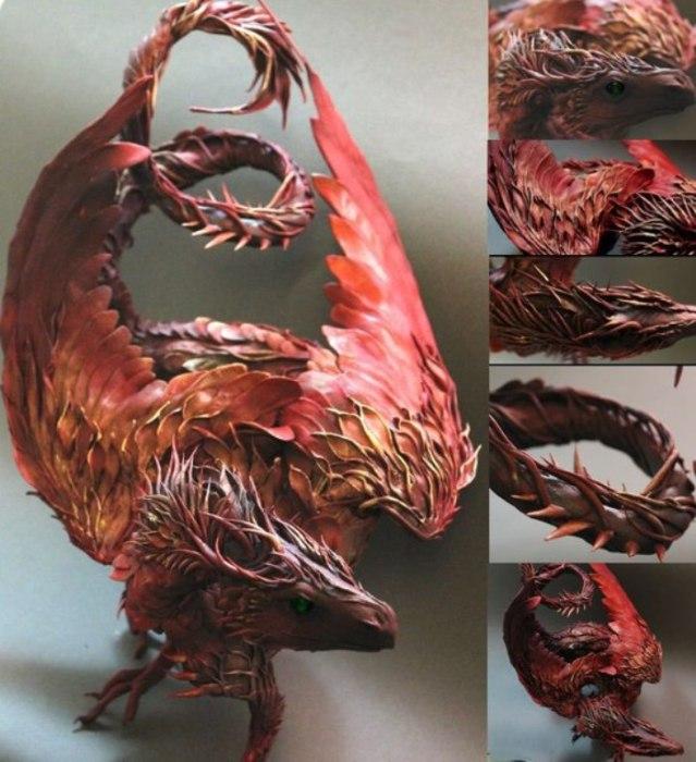 Дракон. Автор скульптуры: Эллен Джеветт (Ellen Jewett).