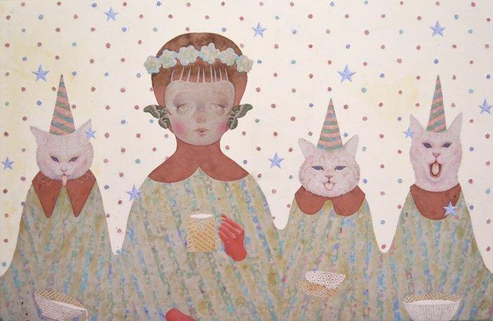 Чаепитие. Автор: Emi Adachi.