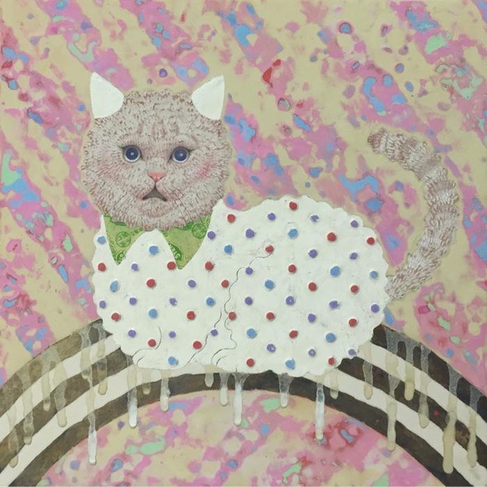 Мудрый кот. Автор: Emi Adachi.
