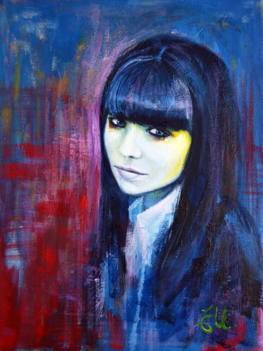 Художница из Австралии создаёт яркие портреты девушек, словно доказывая, что в мире всё проще, чем кажется