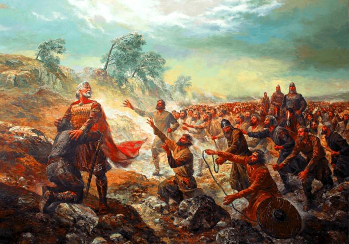 Битва при Клейдионе, решительная победа над болгарами при византийском императоре Василии II. \ Фото: samxedro-istoria.blogspot.com.
