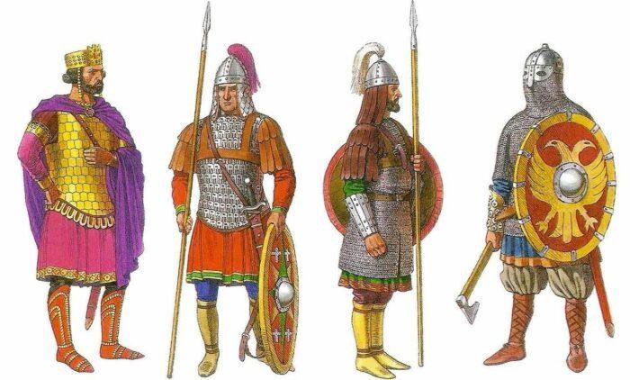Изображение византийской пехоты начала XI века. \ Фото: ok.ru.