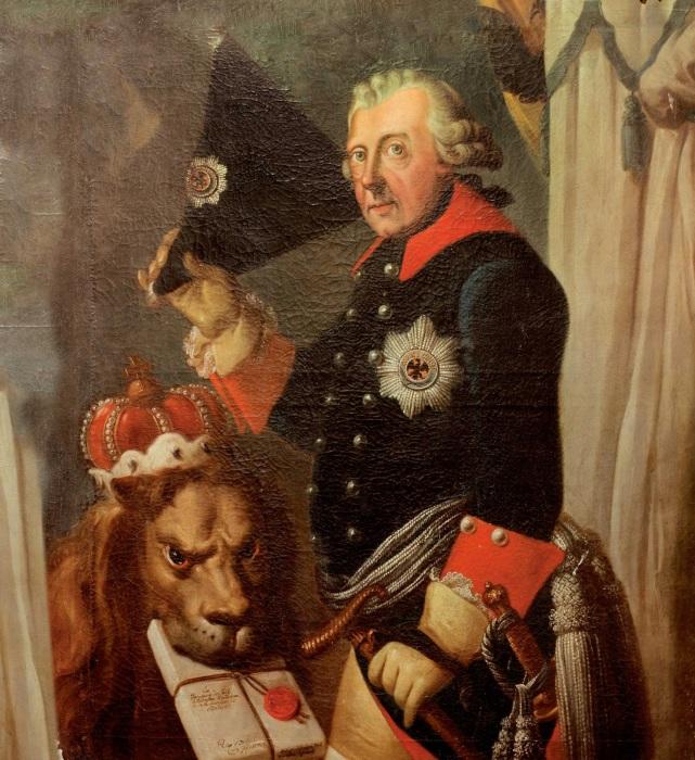 Король Пруссии Фридрих II Великий, Иоганн Генрих Кристиан Франке, XVIII век. \ Фото: archive.4plebs.org.
