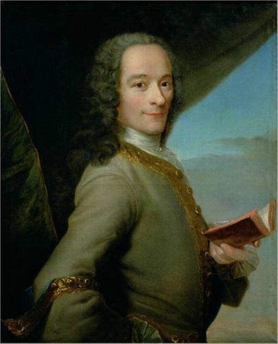 Портрет Франсуа-Мари Аруэ Вольтера, Морис Кантен де Латур, 1737 год. \ Фото: rtbf.be.