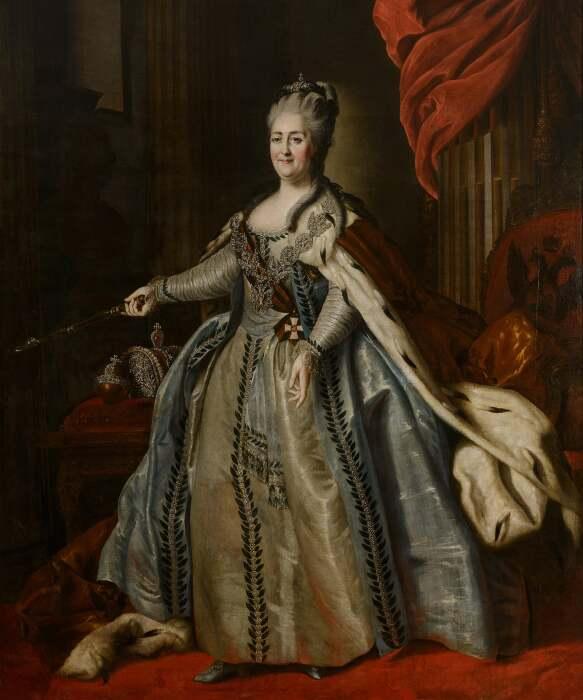 Российская императрица Екатерина Великая, Фёдор Рокотов, около 1780 год. \ Фото: highercaptcha-settle.com.