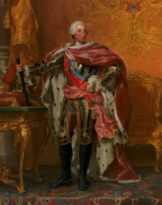 Король Испании Карл III, Антон Рафаэль Менгс, около 1765 года. \ Фото: noticieromadrid.es.
