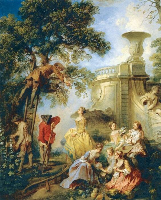 Земля, Николя Ланкре,  около 1730 года. \ Фото: tumblr.com.