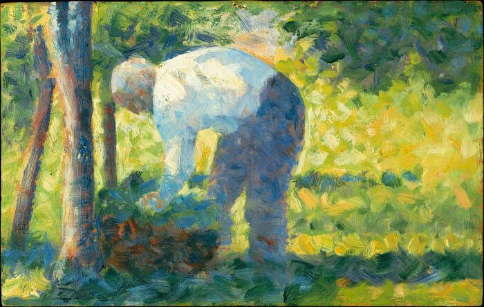 Садовник, Жорж-Пьер Сёра, 1882-1883 гг. \ Фото: wordpress.com.