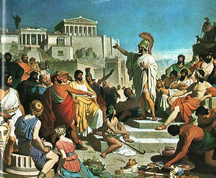 Выступление Перикла перед афинскими гражданами. \ Фото: google.com.