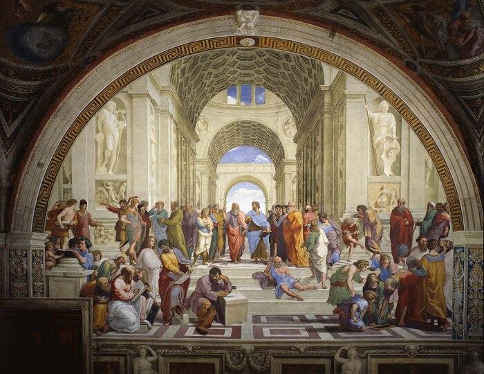 Афинская школа, Рафаэль Санти, 1510-1511 гг. \ Фото: ru.wikipedia.org.