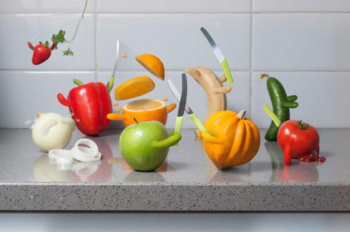 Продовольственная битва (Food Fight). Автор фото: Eran Croitoru.
