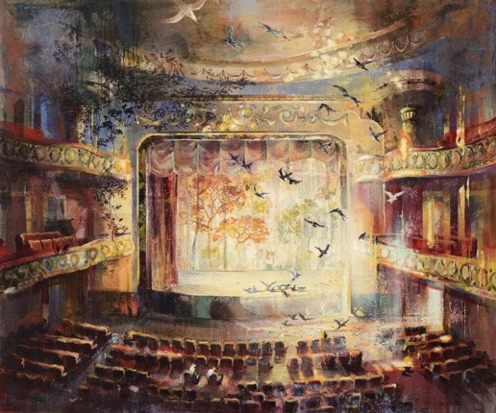 Представление в старом театре. Автор: Eric Roux-Fountaine.