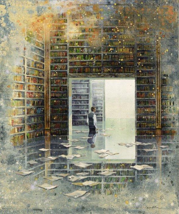 Библиотека. Автор: Eric Roux-Fountaine.