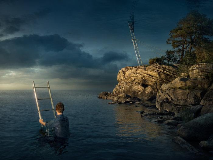 Всё выше неба. Автор: Erik Johansson.