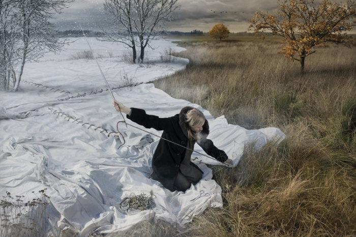 Ожидая зиму. Автор: Erik Johansson.