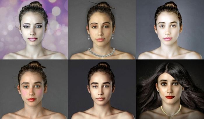 Стандарты красоты в разных странах мира. Автор идеи: Esther Honig.