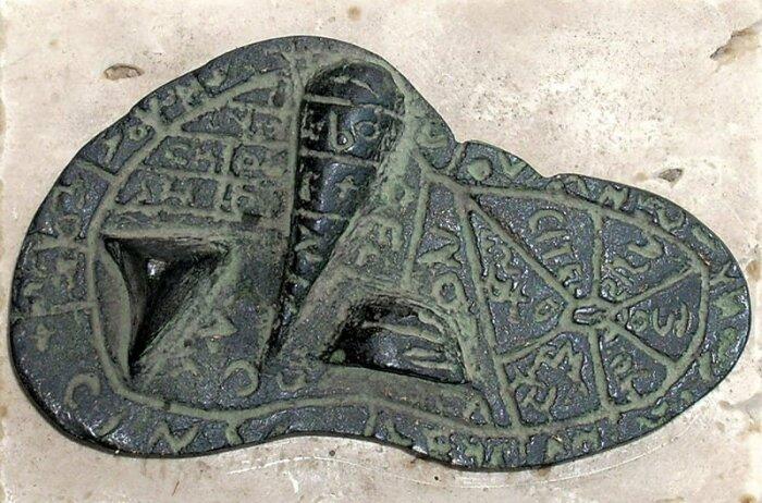 Этрусский бронзовый шаблон печени. \ Фото: thehistoryblog.com.