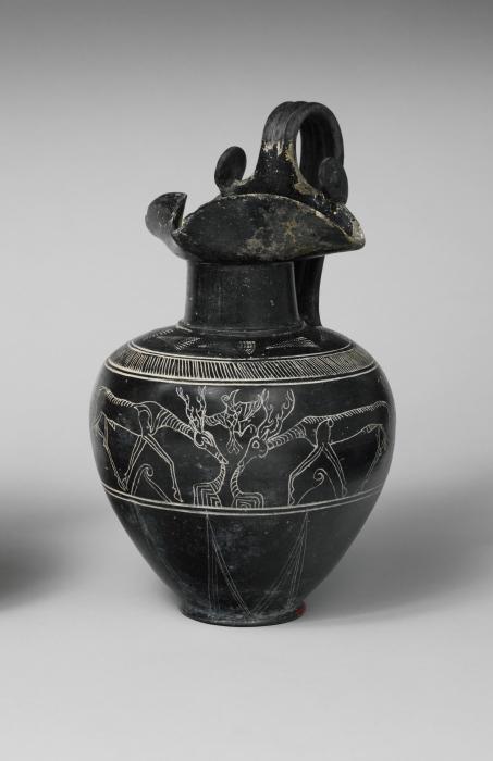 Этрусская посуда буккеро. \ Фото: metmuseum.org.