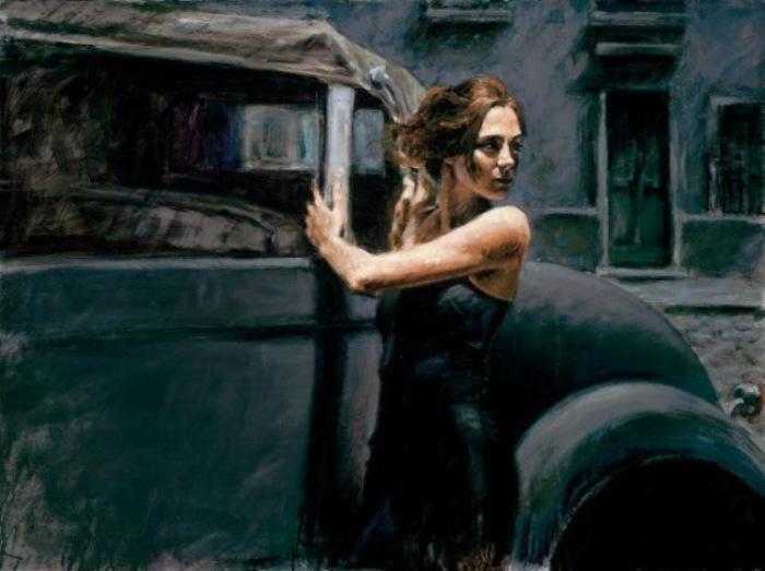 Работа из серии «На улице».  Автор: аргентинский художник Фабиан Перез (Fabian Perez).