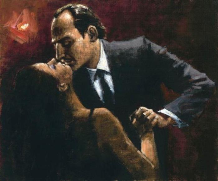 Работа и серии «Танго». Автор: аргентинский художник Фабиан Перез (Fabian Perez).