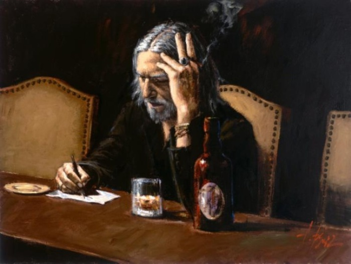 Работа из серии «Чувства». Автор: аргентинский художник Фабиан Перез (Fabian Perez).