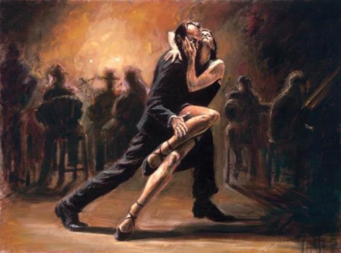 Работа из серии «Танго». Автор: аргентинский художник Фабиан Перез (Fabian Perez).