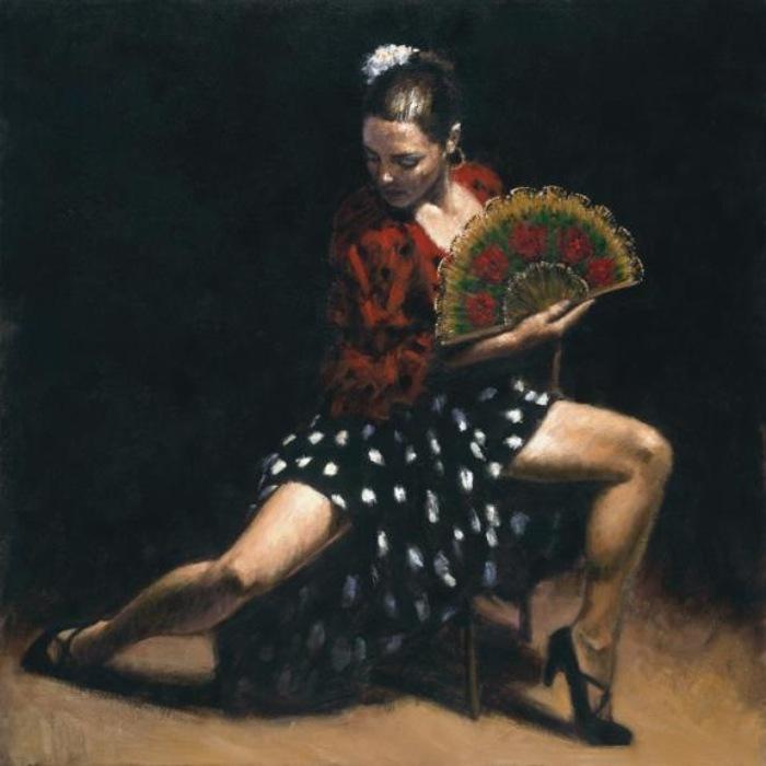 Работа из серии «Танец». Автор: аргентинский художник Фабиан Перез (Fabian Perez).