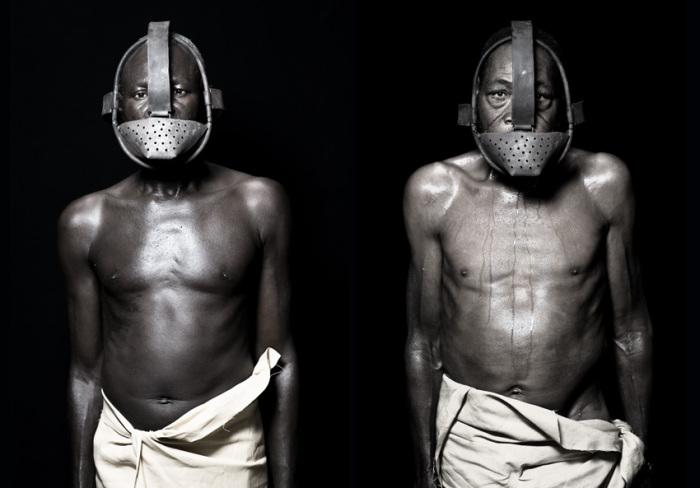 Металлическая маска. Автор работ: Фабрис Монтейро (Fabrice Monteiro).